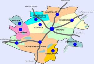 Carte du Canton