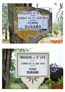 Rénovation des plaques du Maquis de Saint-Lys