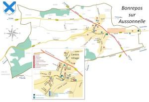 Plan de Bonrepos sur Aussonnelle